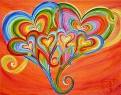 Heart Collage, Heart Art, Prophetic Art, Heart Painting, I Love Heart, Diy Canvas Art, Art Journal Pages, Art Google, Oeuvre D'art