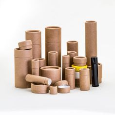 Eco-friendly packaging - 26 size SAMPLE PACK - lip balm / lotion / ointment - kraft cardboard biodegradable cosmetic push up tubes Lip Balm Packaging, Cosmetic Packaging, Spices Packaging, Jar Packaging, Packaging Ideas, Biodegradable Packaging, Biodegradable Products, Glass Dropper Bottles, Lip Balm Tubes