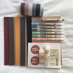 Online shopping for Girls' Back-to-School Essentials from a great selection at Clothing, Shoes & Jewelry Store. Muji Stationary, Stationary School, School Stationery, Stationary Supplies, Stationary Items, College School Supplies, Cute School Supplies, Education College, Study Organization