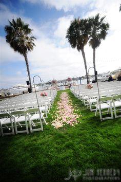 Gorgeous ceremony setup at Balboa Bay Resort | Jim Kennedy Photographers