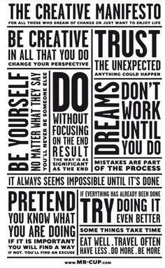 Manifesto creativo by mr. cup