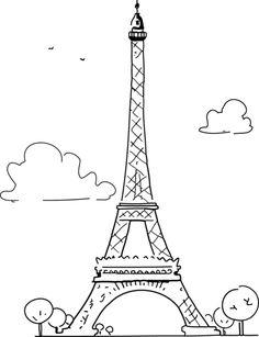 torre eiffel desenho fofo - Pesquisa Google
