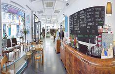 Setzdich Café und Imbiss im Concept Store Block44 (Reindorfgasse 39, 1150) Vienna Austria, Places To Go, Vienna, Snack Station