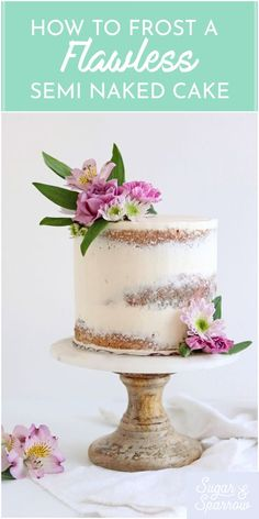 cake decorating 858639485180654568 - Tips for creating a perfect semi-naked buttercream finish + decorating to perfection Cake Bars, Cake Icing, Cupcake Cakes, Wedding Cake Toppers, Wedding Cakes, Ruby Wedding Cake, Nake Cake, Best Buttercream, Rustic Cake