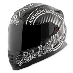 Speed and Strength SS1600 American Beauty Black/Silver Full Face Helmet | 163-322