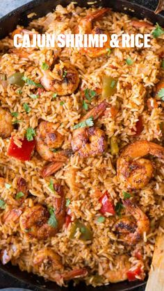 Shrimp And Rice Recipes, Best Seafood Recipes, Shrimp Recipes For Dinner, Seafood Dinner, Cajun Recipes, Healthy Recipes, Easy Weeknight Recipes, Easy Comfort Food Recipes, Good Easy Dinner Recipes