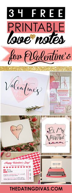 TONS of darling love notes and cards for the hubby for Valentine's Day! These are seriously cute. via @thedatingdivas