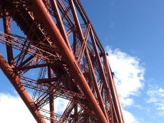 Looking up at the famous Forth bridge taken from North Queensferry