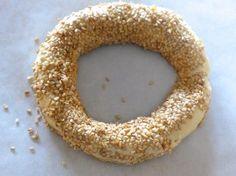 Greek Sesame Bread rings recipe (Koulouri Thessalonikis)-prep2