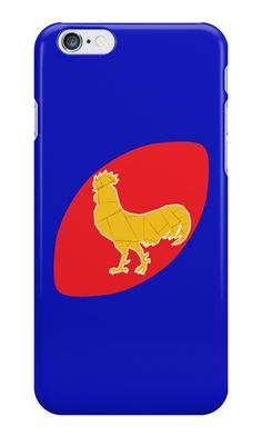 Rugby Francais iPhone Case by fimbisdesigns  #sixnations #6nations #rugbyworldcup2019 #Coq #Mode #LesBleus #CoqGaulois #iPhone6s #iPhone6splus
