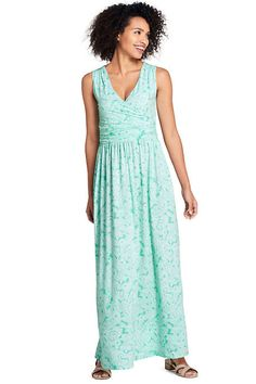 482ba3db35 Women s Petite Sleeveless Knit Surplice Maxi Dress