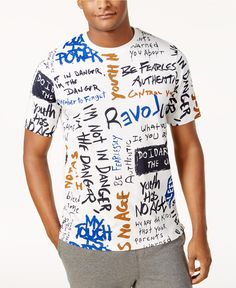 Sean John Men's Revolt Graphic-Print T-Shirt, Created for Macy's - T-Shirts - Men - Macy's