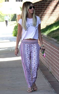 Wide leg palazzo pants. These are the cutest ones I've seen.