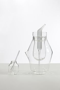 'Rosace' blown glass tea set by Margaux Keller for VCU Qatar and Fabrica.