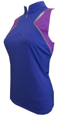 los angeles 86d81 d81c8 CLEARANCE EP Sport Ladies Sleeveless Golf Shirts - Obsidian (Blue Topaz  Multi)