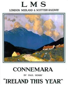 """IRELAND Galway Connemara """"Ireland This Year"""" by Paul Henry for LMS Railway [also Christies]"""