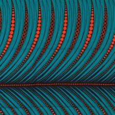 African Wax Fabric – Orange & Blue – by Motifs Textiles, Textile Patterns, Textile Design, Print Patterns, Ethnic Patterns, African Textiles, African Fabric, Afrique Art, Art Africain