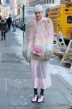- New York Fashion Week Fall/Winter 2014 Snow Fashion, Fashion Week, New York Fashion, Fashion Photo, Winter Fashion, Womens Fashion, Fashion Trends, 3d Fashion, Fashion Eyewear