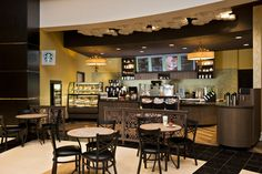 Perks Café proudly serves Starbucks coffee and signature drinks along with a lite menu featuring breakfast, salads, sandwiches, soups and a variety of freshly baked pastries and breads.
