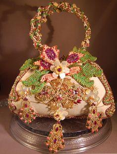 GORGEOUS Heavily Beaded/Decorated Designer Mary Frances Handbag! INCREDIBLE! | eBay