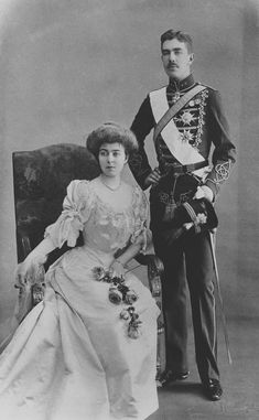 Unknown Person - Prince and Princess Gustaf Adolf of Sweden