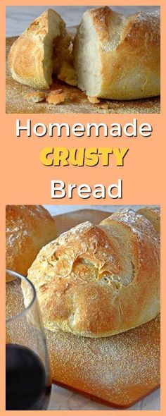 This homemade crusty bread is simple and fast, making it perfect for last minute entertaining and great for impressing your family and dinner guests alike.