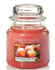 Pêche d'été - Bougie parfumée moyenne jarre - Yankee Candle