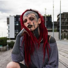 41 People Who Changed Their Appearance in Crazy Ways. Face Tattoos, Body Art Tattoos, Girl Tattoos, Chicano, Red Dreads, Grace Neutral, Human Oddities, Dreadlock Styles, Badass Women