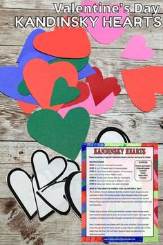 Create abstract art for Valentines Day with this heart art project inspired by famous artist, Kandinsky. Free printable heart template! Valentine's Day Crafts For Kids, Valentine Crafts For Kids, Art Activities For Kids, Projects For Kids, Art Projects, Science Valentines, Valentines Art, Valentines Day Activities, Printable Heart Template