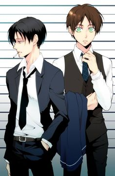 Eren and Levi (Rivaille)