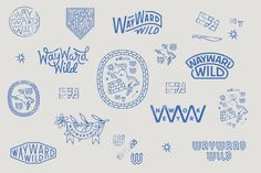 A selection of work by Brooklyn-based creative studio Young Jerks. Logo Inspiration, Lettering, Typography Design, Graphic Design Logos, Badges, Typographie Logo, Badge Design, Grafik Design, Identity Design