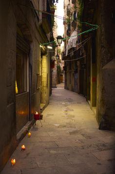 Carrer Grunyi al Gòtic, Barcelona, Catalonia, Spain