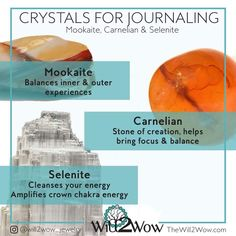 Crystals to aid the journaling process