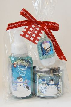 bath and body works clean cozy gift set jingle all the way
