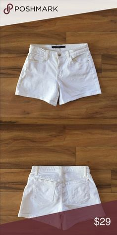 """Joe's Jeans White Jean Shorts. Joe's Jeans white jean shorts. Inseam 4"""". Roll them for a different length! Purchased last year, too big on me. Joe's Jeans Shorts Jean Shorts"""