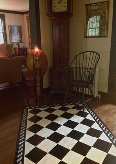 Hand painted Floorcloth