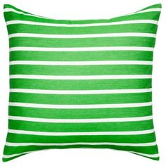 Kate Spade New York Picnic Green Harbor Stripe Green Euro ($60) ❤ liked on Polyvore featuring home, bed & bath, bedding, picnic green, kate spade bedding, european bed linens, striped twin bedding, king size bedding and x long twin bedding
