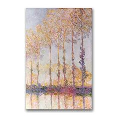 Claude Monet 'Poplars on the Banks of the Epte' Canvas Art | Overstock.com Shopping - The Best Deals on Gallery Wrapped Canvas