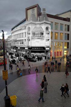 Church Street & the fantastic Bunneys Liverpool - past & present