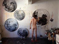 Moon paintings - Kurt Pio - Cape Town