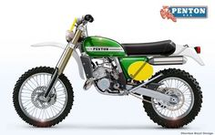 Oberdan Bezzi, an Italian designer is proposing to have enduro bikes with up-to-date frames , engine , suspensions . but with the classic look of. Enduro Vintage, Vintage Motocross, Vintage Bikes, Vintage Motorcycles, Custom Motorcycles, Moto Enduro, Scrambler Motorcycle, Motorcycle Design, Bike Design