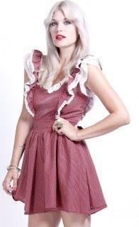 70's Prairie Lace Mini Dress