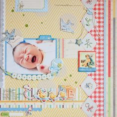 Baby Boy Scrapbook Layouts | BABY BOY