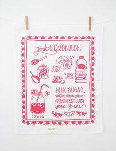 Southern Recipe Tea Towel