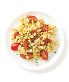 Corn Salad With Cheddar and Tomato.