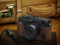 Photo2: Leather Camera Body Suit [for FUJIFILM X-Pro2]