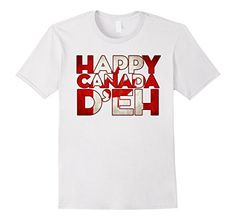 Men's Happy Canada D'eh (Day) T-Shirt Small White