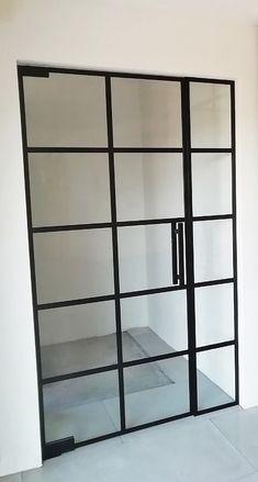 Drzwi Loftowe - Industrialne | Drzwi wewnętrzne - zabudowy szklane - drzwi loft - podłogi Mirror Door, Diy Home Crafts, Bookcase, Loft, Shelves, Doors, Kitchen Ideas, Inspiration, Furniture