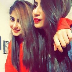 beautiful sajal ali with her sister saboor ali Sister Pictures, Girl Pictures, Girl Photos, Cute Celebrities, Celebs, Sajjal Ali, Long Indian Hair, Cute Sister, Celebrity Siblings