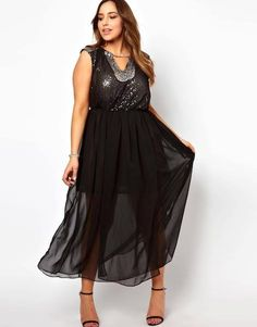 From Asos Curve // beautiful black dress
